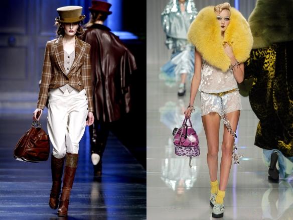Коллекции ready-to-wear:  Осень-зима 2010-2011, осень-зима 2004-2005 (Джон Гальяно)