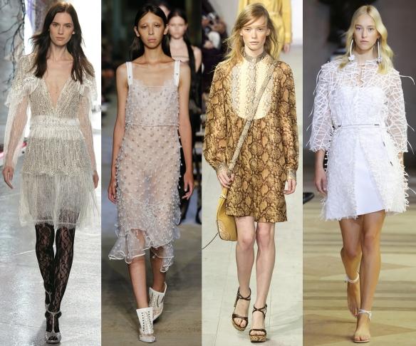 Слева направо: Rodarte, Givenchy,  Michael Kors, Carolina Herrera
