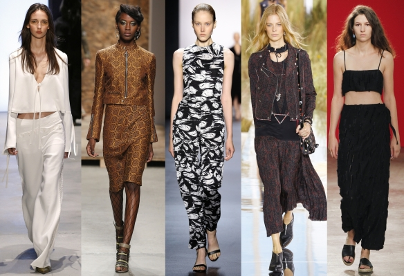 Слева направо: Derek Lam, Creatures of the Wind, Yigal Azrouel, Coach, Creatures of Comfort