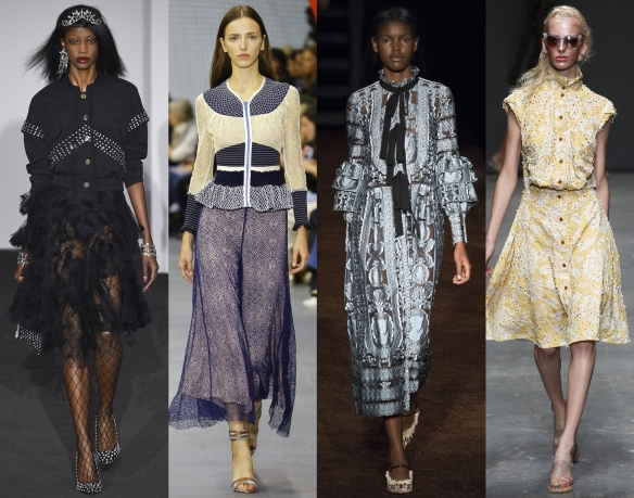 Слева направо: Ashley Williams, Peter Pilotto, Erdem, Vivienne Westwood Red Label