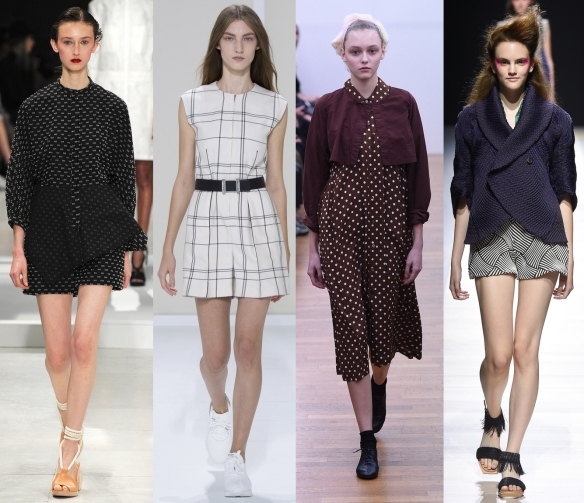 Слева направо: Chalayan, Hermes, Comme Des Garcons, Issey Miyake