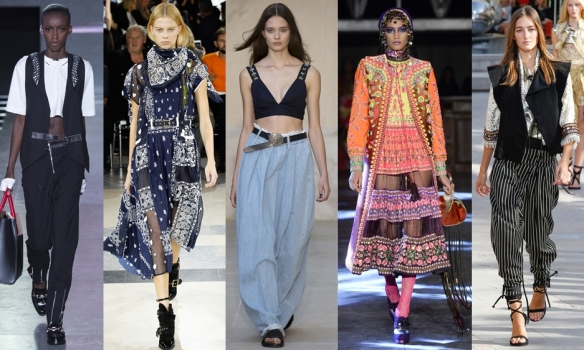 Слева направо: Louis Vuitton, Sacai, Each x Other, Manish Arora, Isabel Marant
