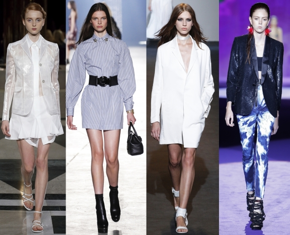 Слева направо: Aquilano .Rimondi, Versace, Costume National, Dsquared²