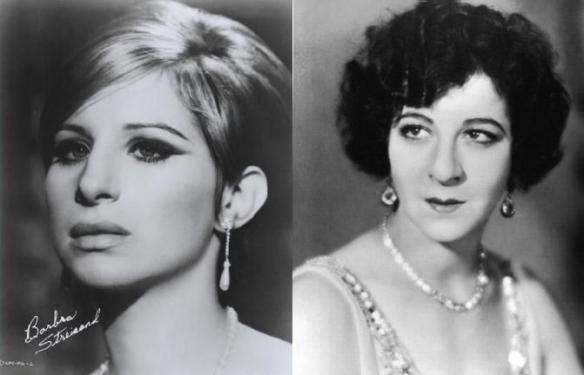 Слева: Барбра Стрейзанд, справа: Фанни Брайс