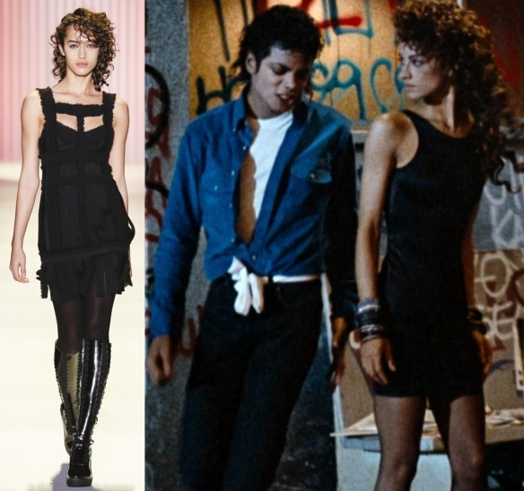 "Слева направо: Herve Leger by Max Azria, Michael Jackson ""The way you makes me feel"""