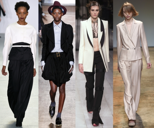 Слева направо: J. JS Lee, Vivienne Westwood, Alexander McQueen, Barbara Casasola