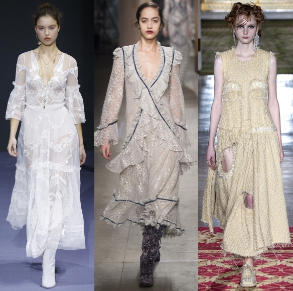 Слева направо: Temperley London, Erdem,  Simone Rocha