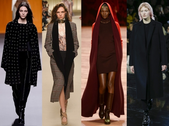 Слева направо: Hermes, Lanvin, Akris, Courreges