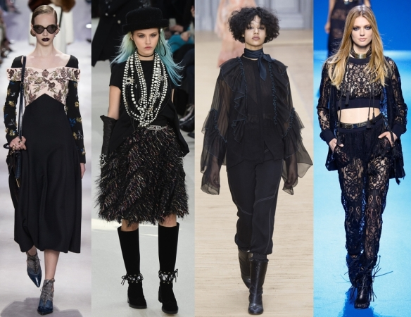 Слева направо: Christian Dior, Chanel, Chloe, Elie Saab