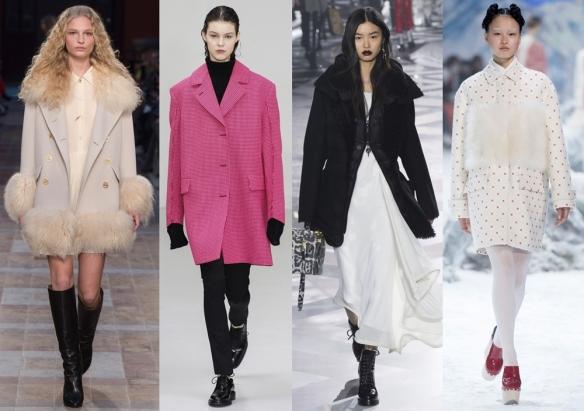 Слева направо: Sonia Rykiel, Yang Li, Louis Vuitton, Moncler Gamme Rouge