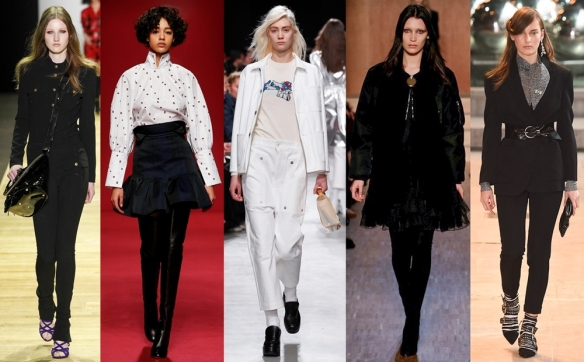 Слева направо: Barbara Bui, Ellery, Julien David, Givenchy, Isabel Marant