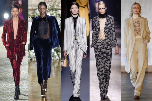Слева направо: Haider Ackermann, Vanessa Seward, Vionnet, Dries Van Noten, Each x Other